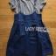 Lady Ribbon Korea Denim Dress LR21130616 &#x1F380 Lady Ribbon's Made &#x1F380 Lady Alexa Street Chic Striped T-Shirt with Denim Overall Dress thumbnail 5