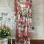 Lady Ribbon Korea Closet LV02070616 &#x1F36DKorea Design By Lavida elegant feminine rose printing long sleeve maxi dress thumbnail 6