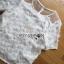 Lady Ribbon Dress Lady Ribbon Korea LR21190516 &#x1F380 Lady Ribbon's Made &#x1F380 Lady Paule Mini Flower Embroidered Organza and Chiffon White Set thumbnail 7