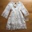 Lady Ribbon เสื้อผ้าเกาหลี LR03140716 &#x1F380 Lady Ribbon's Made &#x1F380 Lady Kate Modern Bohemian Fringed White Lace Dress เดรสผ้าลูกไม่ประดับพู่ thumbnail 5