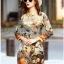 Lady Ribbon Korea Dress LR11160616 &#x1F380 Lady Ribbon's Made &#x1F380 Lady Natalie Natural Wild Birdie Printed Shirt Dress thumbnail 3