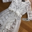 Lady Ribbon White Tulle and Lace Dress thumbnail 5