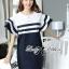 Dress Lady Ribbon Koreain Navy Style เดรส thumbnail 2