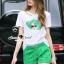 Lady Ribbon Korea Brand SS18300516 Seoul Secret Say's .... Emerald Sqinny Hatty Chic Set thumbnail 4