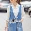 Lady Ribbon Korea Brand SS13300516 Seoul Secret Say's .... Roppy Pinstripe Denim Shirt Dress thumbnail 3