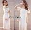 Lady Ribbon Korea LR05260516 &#x1F380 Lady Ribbon's Made &#x1F380 Lady Emilia Bohemian Off-Shoulder Embroidered Cotton Lace Maxi Dress thumbnail 2