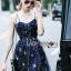 Lady Ribbon Korea Dress &#x1F380 Lady Ribbon's Made &#x1F380 Lady Gabriella Glittery Stars Tulle Mini Dress มินิเดรส thumbnail 4