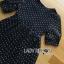 Lady Ribbon's Made &#x1F380 Lady Elena Feminine Cross Dot Printed Chiffon and Knitted Dress thumbnail 7