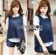 Lady Ribbon Korea LR14230516 &#x1F380 Lady Ribbon's Made &#x1F380 Lady Trixie Smart Casual Denim Set thumbnail 3