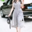 brand Korea Design By brand cliona Lavida hi-end two tone gray sleeveless feminine jumpsuit thumbnail 1