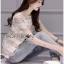 Lady Ribbon Dress Korea LR13190516 &#x1F380 Lady Ribbon's Made &#x1F380 Lady Georgina Striped Lace Top with Dress Korea Pleated Frills เสื้อผ้าลูกไม้ลาย thumbnail 3