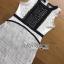 Black & White Lace Lady Ribbon Mini Dress thumbnail 6