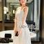 Lady Ribbon Korea Dress &#x1F380 Lady Ribbon's Made &#x1F380 Lady Samantha Sweet Feminine Laser-Cut Cotton Dress เดรสแขนกุด thumbnail 2
