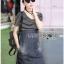 Lady Ribbon Korea Denim Dress LR13270616 &#x1F380 Lady Ribbon's Made &#x1F380 Comme des Garcons Jersey and Denim Dress เ thumbnail 4