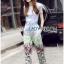 Lady Ribbon Korea LR12190516 &#x1F380 Lady Ribbon's Made &#x1F380 Lady Aimee Summer Casual Birdy Printed Jersey Cotton T-Shirt and Pants Set เซ็ตเสื้อทีเชิ้ต thumbnail 5