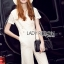 Lady Ribbon Dress LR07120516 &#x1F380 Lady Ribbon's Made &#x1F380 Lady Kiera Smart Chic Lace Dress Denim Jumpsuit in White thumbnail 3