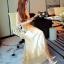 Lady Ribbon Sevy SV03290516 &#x1F389Sevy Golden Edge Sleeveless Vintage Maxi Dress thumbnail 4