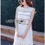 Lady Ribbon Korea เสื้อผ้าเกาหลี ของแท้พร้อมส่ง Lady Ribbon Dress LR08250716 &#x1F380 Lady Ribbon's Made &#x1F380 Lady Kate Sporty Sweet White Lace Dress เดรสผ้าลูกไม้ thumbnail 2