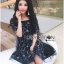 Lady Ribbon Korea Korea Shop LR08230616 &#x1F380 Lady Ribbon's Made &#x1F380 Lady Sophia Playful Chic Off-Shouldered Sparkling Stars Tulle Dress Shop thumbnail 3