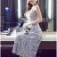 Lady Ribbon&#x1F380 Lady Ribbon's Made &#x1F380 Self-Portrait Arabella Midi Dress in Smoked Lilac thumbnail 6