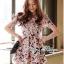 Lady Ribbon Korea Closet Jumpsuit LR13230616 &#x1F380Lady Ribbon's Made &#x1F380Lady Lana Flower Print A-Line Dress เ thumbnail 2