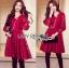 Lady Ribbon เสื้อผ้าเกาหลี LR08110716 &#x1F380 Lady Ribbon's Made &#x1F380 Lady Blaire Classic Feminine Lace Cocktail Dress ค็อกเทลเดรสผ้าลูกไม้สไตล์คลาสสิก thumbnail 2