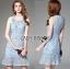 Lady Ribbon Korea Dress &#x1F380 Lady Ribbon's Made &#x1F380 Lady Nara Feminine Elegant Crystal Embroidered Lace Dress thumbnail 2