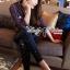 Lady Ribbon Korea เสื้อผ้าเกาหลี ของแท้พร้อมส่ง Lady Ribbon Denim LR17250716 &#x1F380 Lady Ribbon's Made &#x1F380 Lady Kim Skinny Jeans with Crystal Embellished thumbnail 3