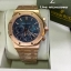 Audemars Piguet Royal Oak Chronograph - Gold with Blue Dial thumbnail 3