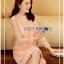 Lady Ribbon's Made &#x1F380 Lady Nara Classic Striped High-Neck Korea Lace Dress เดรสผ้าลูกไม้ thumbnail 6