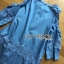 Lady Ribbon Korea Dress &#x1F380 Lady Ribbon's Made &#x1F380 Ashley Summery Off-Shoulder Denim Cotton and Lace Dress เดรสเปิดไหล่ thumbnail 5