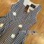 Lady Ribbon Korea เสื้อผ้าเกาหลี ของแท้พร้อมส่ง Lady Ribbon Dress LR21250716 &#x1F380 Lady Ribbon's Made &#x1F380 Lady Jennifer Summery Pretty Daisy Embroidered Plaid Dress thumbnail 5