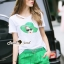 Lady Ribbon Korea Brand SS18300516 Seoul Secret Say's .... Emerald Sqinny Hatty Chic Set thumbnail 5