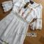 Lady Ribbon Korea Dressเสื้อผ้า LR22010816 &#x1F380 Lady Ribbon's Made &#x1F380 Lady Abigail Hippie Holiday Floral Embroidered Lace and Cotton Maxi Dress เดรสยาวผ้า thumbnail 6