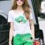 Lady Ribbon Korea Brand SS18300516 Seoul Secret Say's .... Emerald Sqinny Hatty Chic Set thumbnail 3