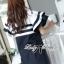 Dress Lady Ribbon Koreain Navy Style เดรส thumbnail 4