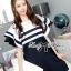 Dress Lady Ribbon Koreain Navy Style เดรส thumbnail 8