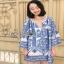 Lady Ribbon เสื้อผ้า ปักลายสีน้ำเงินสไตล์อิตาเลียน thumbnail 1