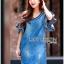 Lady Ribbon Korea LR03260516 &#x1F380 Lady Ribbon's Made &#x1F380 Lady Ashley Smart Casual Ruffle-Sleeve Denim Dress เ thumbnail 3