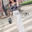 Lady Ribbon Korea Dress LR17060616 &#x1F380 Lady Ribbon's Made &#x1F380 Lady Alana Casual Chic Monochrome Printed Chiffon Jumpsuit จั thumbnail 2
