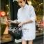 Lady Ribbon's Made &#x1F380 Lady Vanessa Classic Insert Lace Shirt Korea in White thumbnail 5