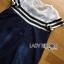 Lady Ribbon KOrea Denim Dress LR03130616 &#x1F380 Lady Ribbon's Made &#x1F380 Lady Aurelie Sporty Minimal Striped Denim Dress เดรสผ้าเดนิม thumbnail 5