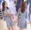 Lady Ribbon Korea Dress &#x1F380 Lady Ribbon's Made &#x1F380 Lady Ariana Sweet Feminine French Lace Dress in Light Blue เดรสผ้าลูกไม้ thumbnail 2