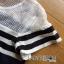 Lady Ribbon KOrea Denim Dress LR03130616 &#x1F380 Lady Ribbon's Made &#x1F380 Lady Aurelie Sporty Minimal Striped Denim Dress เดรสผ้าเดนิม thumbnail 6