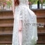 Lady Ribbon White Tulle and Lace Dress thumbnail 3