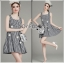 Lady Ribbon Korea เสื้อผ้าเกาหลี ของแท้พร้อมส่ง Lady Ribbon Dress LR21250716 &#x1F380 Lady Ribbon's Made &#x1F380 Lady Jennifer Summery Pretty Daisy Embroidered Plaid Dress thumbnail 1