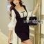 Black & White Lady Ribbon Polkadot Dress thumbnail 3