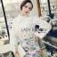 Lady Ribbon's Made &#x1F380 Lady Cara Feminine Flare-Sleeve Lace Blouse Korea Dress thumbnail 2