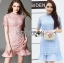 Lady Ribbon Korea Dress &#x1F380 Lady Ribbon's Made &#x1F380 Lady Slyvie Pastel Love Guipure Lace and Chiffon Dress เดรสผ้าลูกไม้ thumbnail 1