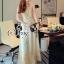 Lady Ribbon Sevy SV03290516 &#x1F389Sevy Golden Edge Sleeveless Vintage Maxi Dress thumbnail 3